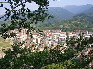 Uricani Town in Hunedoara, Romania