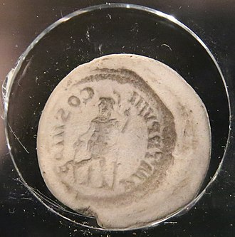 Counterfeit money - 3rd century AD counterfeit coin mold for making fake Roman coins
