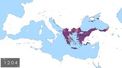 Das Byzantinische Reich am Vorabend des vierten Kreuzzugs im Jahre 1203 n. Chr.