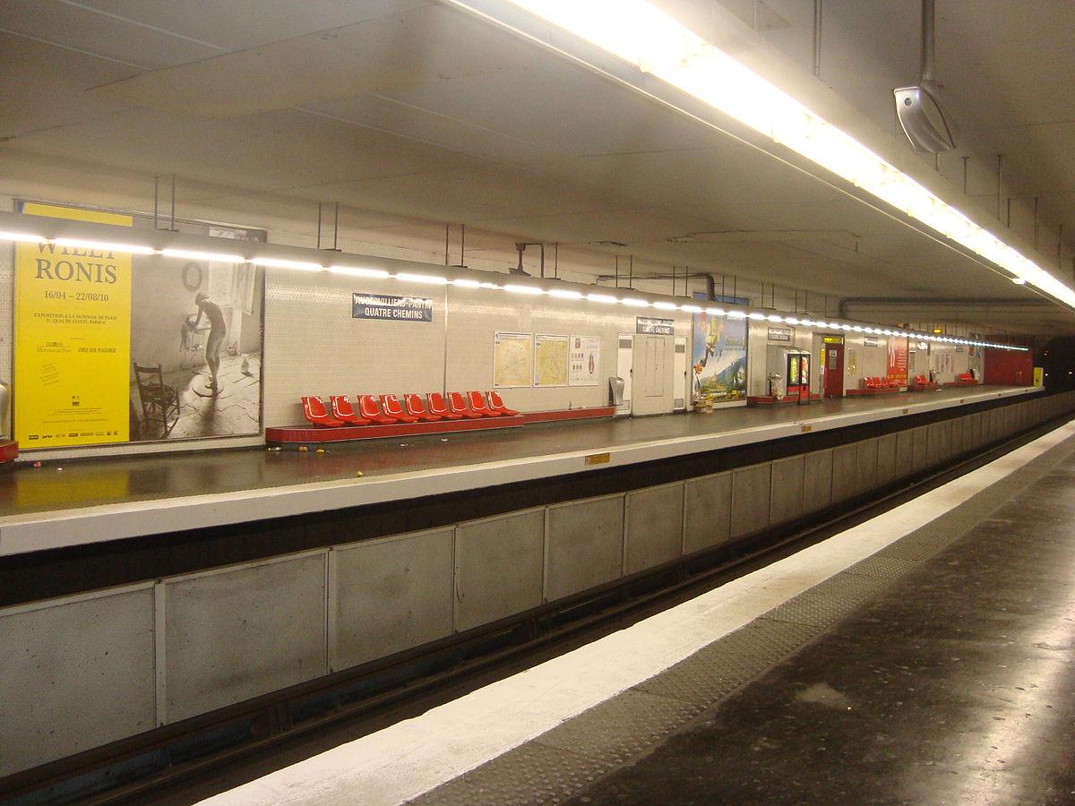 Aubervilliers pantin quatre chemins paris m tro - Metro porte d ivry ...