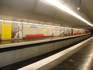 Aubervilliers – Pantin – Quatre Chemins (Paris Métro) - Image: 4chemins quais 2