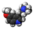 5-MeO-DMT molecule spacefill.png