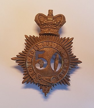 50th (Queen's Own) Regiment of Foot - Cap Badge of the 50th Regiment of Foot