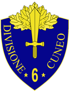 6th Infantry Division Cuneo combat formation of the Italian Army