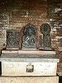 7th century Vishnu and Surya images in sacrum sanctum restored from ruins, Lakshmana Hindu temple, Sirpur Chhattisgarh India.jpg