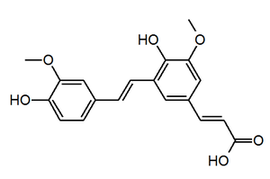 Decarboxylated 8,5'-diferulic acid - Image: 8,5' Di FA (DC)