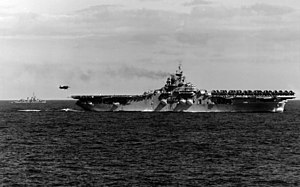 AD-4W approaching USS Bon Homme Richard (CV-31) off Korea 1951.jpg