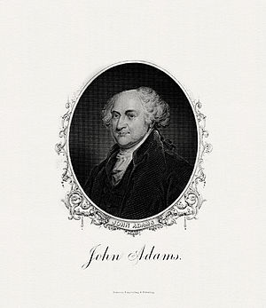 Criticism of John Adams (pictured) landed Lyon in prison.