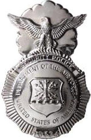 "Air Force Security Police Badge - U.S. Air Force Security Police Shield, with the words ""Security Police"" below the eagle"