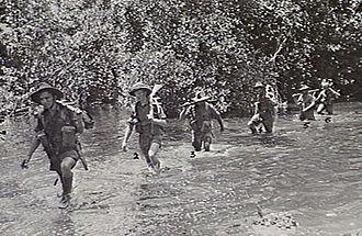 2/6th Commando Squadron (Australia) - Members of the 2/6th patrol near Wanigela, New Guinea, October 1942