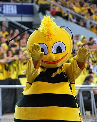 PGE Skra Bełchatów - Bee - mascot of the PGE Skra.