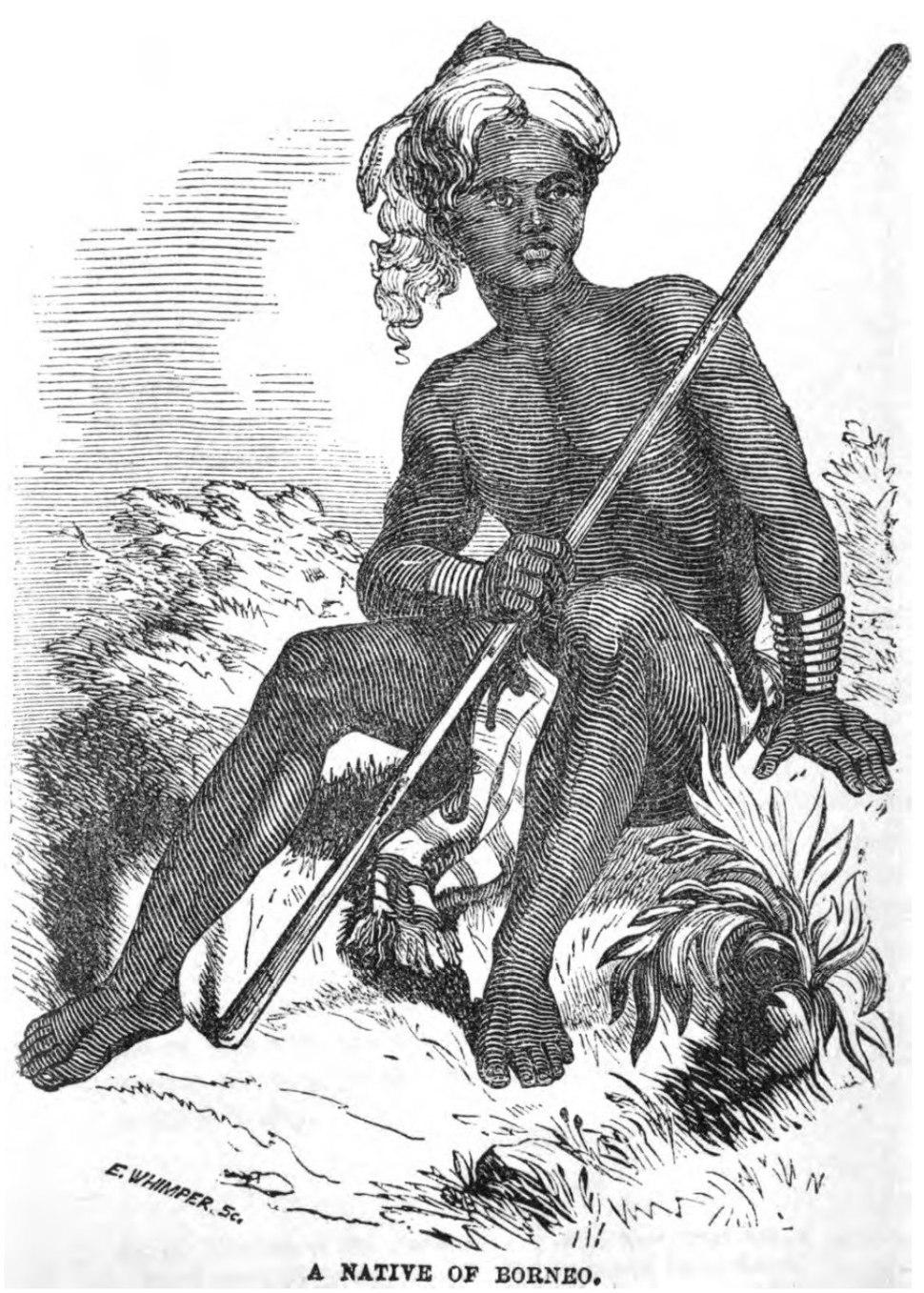 A Native of Borneo (June 1853, X, p.60) - Copy