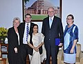 A Parliamentary delegation from Finland led by the Speaker of the Parliament of Finland, Mr. Eero Hienaluoma calls on the Leader of Opposition in Lok Sabha, Smt. Sushma Swaraj, in New Delhi on April 23, 2012.jpg