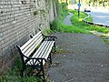 A bench at the site of Dudbridge Station, Stroud - geograph.org.uk - 932082.jpg