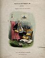 A disgruntled gouty man with all limbs bandaged, a table cov Wellcome V0011165.jpg