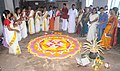 A flower carpet designing competition as part of the Bharat Nirman Public Information Campaign, organised by PIB, Thiruvananthapuram, in view of the coming Onam festival, at Thrikkunnapuzha, Alappuzha district.jpg