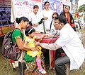 A free medical camp of the Health department of Jonai, at the Public Information Campaign on Flagship Programme, organised by the Press Information Bureau, Guwahati, at Jonai, District of Dhemaji, in Assam.jpg