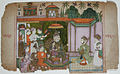 A king and courtiers listen to a musician (6124576281).jpg