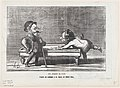 A rainy day- The guest is condemned to six hours of billiards, from 'The joys of country life,' published in Le Charivari, October 4, 1865 MET DP877452.jpg