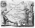 A scientist using a steam machine with pulley to extract a t Wellcome L0015008.jpg