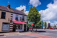 A street in Crossmolina, County Mayo, Ireland.jpg