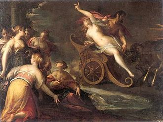 Proserpina - The rape of Proserpina by Hans von Aachen