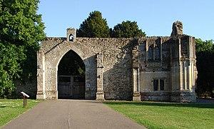 Ramsey Abbey - Remains of the abbey gatehouse