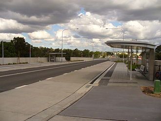 North-West T-way - Abbott T-Way Station in Seven Hills