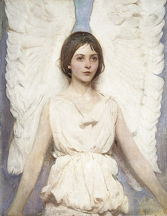 Abbott Handerson Thayer - Angel, 1887, oil on canvas. Smithsonian American Art Museum