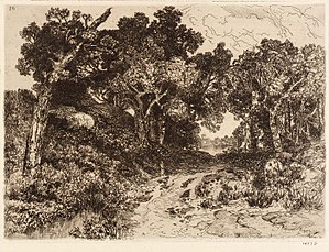 Mary Nimmo Moran - Across The Water. ca. 1880-1890. Mary Nimmo Moran. etching on paper. 5 7/8 x 8 in. (14.9 x 20.2 cm)
