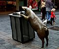 Adelaide. Rundle Mall's bronze pigs (19526756678).jpg