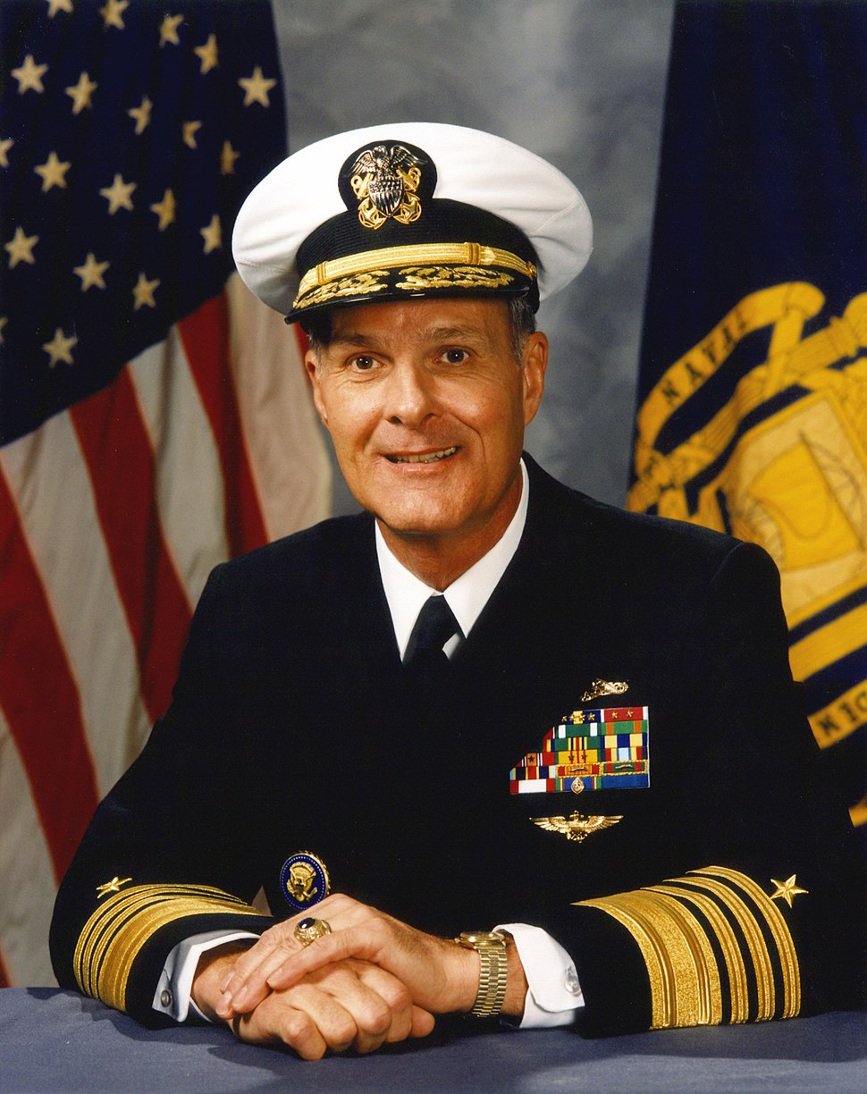 Adm Charles R Larson - official portrait, Superintendent of US Naval Academy