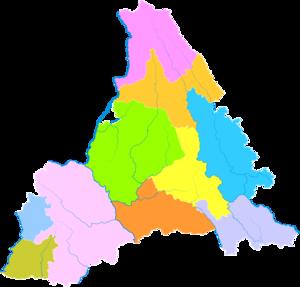 Pu'er City - Image: Administrative Division Pu'er