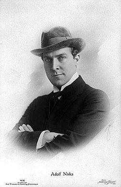 Adolf Niska på postkort 1915