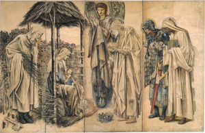 Adoration of the Magi (tapestry) - Cartoon for the Adoration tapestry, 1888