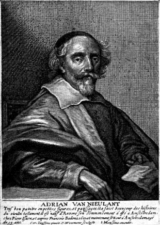 Adriaen van Nieulandt - Adriaen van Nieuwlandt after a portrait by Cornelius Johnson in Het Gulden Cabinet.