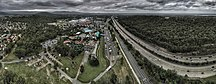 Queensland-Economy-Aerial panorama of Wet and Wild in the Gold Coast