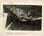 Aerial photograph of Camp Mohawk, one of the Royal Flying Corps' pilot training camps near Deseronto, Ontario. (5491927409).jpg