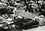Aerial view of Chena River, Clay Street Cemetery and sawmill 1955.jpg