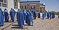 Afghan women and children gather outside a community clinic after attending a medical seminar in the Deh Yak district, Ghazni province, Afghanistan, Aug. 19, 2013 130819-A-SL739-057.jpg