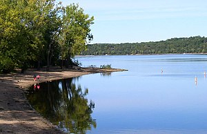 Afton State Park - Afton State Park's swimming area on the St. Croix River