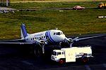 Air Atlantique DC-3 G-AMHJ at NCL (15523689053).jpg