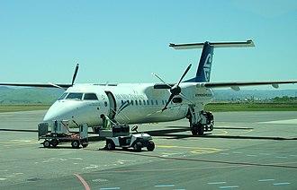 Hawke's Bay Airport - Air New Zealand Bombardier Q300 on the tarmac at Napier Airport, November 2005