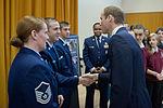 Airmen brief Duke of Cambridge about mentor program.jpg