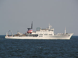Akademik Mstislav Keldysh in the Baltic Sea.