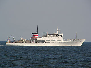 Russian scientific research vessel