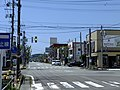 Akita prefectural road route 59 in central district of Oga City 20180526 (1).jpg