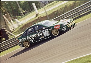 Alain Menu - Menu driving for Renault in the 1998 British Touring Car Championship season.