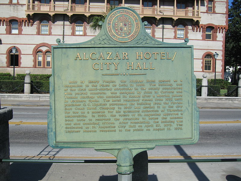 File:Alcazar Hotel - City Hall historical marker 01.jpg