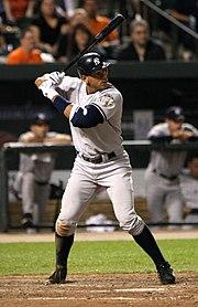 Rodriguez in battuta nel 2008 con gli Yankees